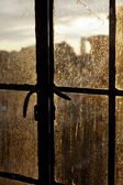 Afternoon Sun Back Lighting Stained Window — Stock Photo