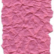 Pink Fiber Paper - Crumpled with Torn Edges - Stock Photo
