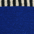 Cotton Fabric Texture - Blue with Black & White Stripes — Stock Photo