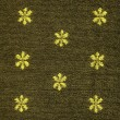 Постер, плакат: Cotton Fabric Texture Khaki with Yellow Patterns