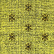 Постер, плакат: Cotton Fabric Texture Yellow with Khaki Patterns XXXXL