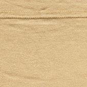 хлопчатобумажные ткани текстуры - бежевый с шов — Стоковое фото