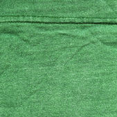 Cotton Fabric Texture - Green with Seams — Stock Photo