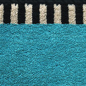 Cotton Fabric Texture - Aqua with Black & White Stripes — Stock Photo