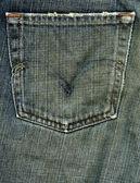 Denim Fabric Texture - Worn Out Pocket — Stock Photo