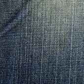 Denim Fabric Texture - Worn Out Blue — Stock Photo