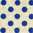 Rice Paper Texture - Blue Polka Dots XXXXL — Stock Photo