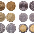 Israeli Coins - Frontal — Stock Photo