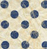 Rijstpapier texture - blauwe polka dots — Stockfoto