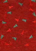 Rice Paper Texture - Christmas Red — Stock Photo