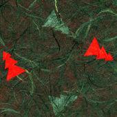рисовая бумага текстур - зеленый рождество — Стоковое фото
