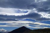 Cloudscape & Mountain Peak — Stock Photo