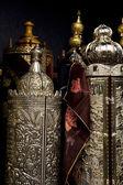 Torah Scrolls Containers — Stock Photo
