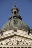 центр купол базилики святого иштвана (szent иштван) в идеальное — Стоковое фото