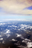 Aerial View of Cloud Covered Land — Stock Photo