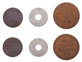 Isolated Palestine Coins - Frontal — Stock Photo
