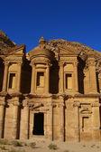 Vieja petra en jordania — Foto de Stock