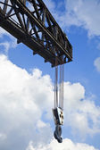 Vintage Harbour Crane — Stock Photo