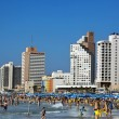 Tel Aviv Beach and Hotel Strip — Stock Photo #24044973