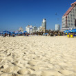 Tel Aviv Beach and Hotel Strip — Stock Photo #24045165