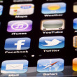 IPhone 4 - Apps Macro — Stock Photo