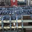 Stock Photo: Port Authority Terminal Rooftop Parking and Skyscrapers Manhatta