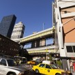 Stock Photo: NYC Taxi Traffic by Port Authority Bus Terminal