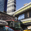 NYC Bus Traffic by Port Authority Bus Terminal - Stock Photo