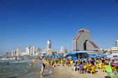 Tel Aviv Beach and Hotel Strip — Stock Photo