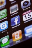 IPhone 4 - Apps Macro — Stock Photo
