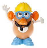 Mr. Potato Head - Construction Worker Looking Up — Stok fotoğraf