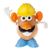 Mr. Potato Head - Construction Worker Frontal — Stock Photo