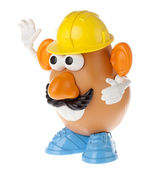 Mr. Potato Head - Construction Worker Half-Profile — Stock Photo