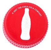 コカ ・ コーラのプラスチック製のキャップ — ストック写真