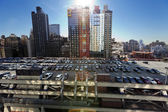 Port Authority Rooftop Parking and Skyscrapers Manhattan New Yor — Stock Photo