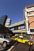 NYC Taxi Traffic by Port Authority Bus Terminal — Стоковое фото