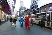 Elmo and Cookie Monster on 42nd Street Manhattan New-York — Stock Photo