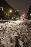 Snow at Manhattan Avenue New-York — Stock Photo