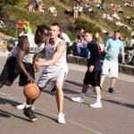 Street Basketball Intense Battle — Stock Photo #24051371