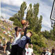 Street Basketball Intense Battle — Stockfoto