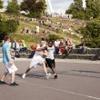 Street Basketball Intense Battle — Stock fotografie