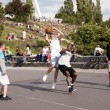 Street Basketball Intense Battle — Stok fotoğraf