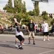 Street Basketball Intense Battle — Foto Stock