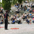 street performers at mauerpark amphitheater — Stock Photo