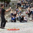 Stock Photo: Street Performer at Mauerpark Amphitheater