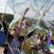 Making Soap Bubbles at Mauerpark - Stock Photo