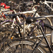 Постер, плакат: Parked Bicycles at Alexanderplatz