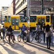 Pedestrians Waiting for Green Light at Alexanderplatz — Stock Photo #24056031