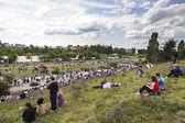 воскресенье в мауэр парке берлин германия — Стоковое фото