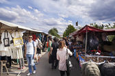 Mauerpark Flea Market Clothing Shops Aisle — Stock Photo